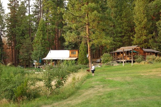 Front picture of sunset inn yosemite vacation cabins for Yosemite vacation cabins