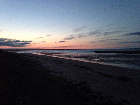 Druridge Bay Country Park: North view towards amble from cresswell at sunset. Stunning.