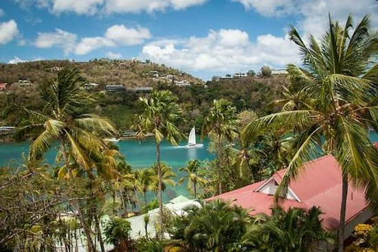Oasis Marigot: View from our villa