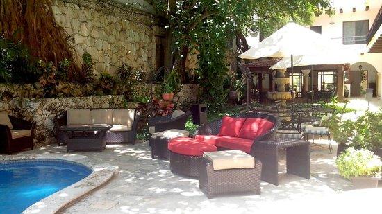 Hotel Maison del Embajador : SALA DE ESTAR ZONA ALBERCA