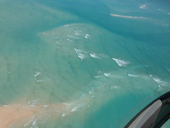 Cable Beach Club Resort & Spa: View from helicopter at Willie Creek