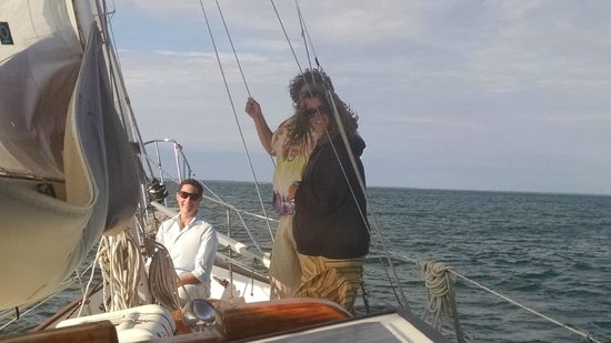 Witch of Endor Sailing Charters: Birthday revelers