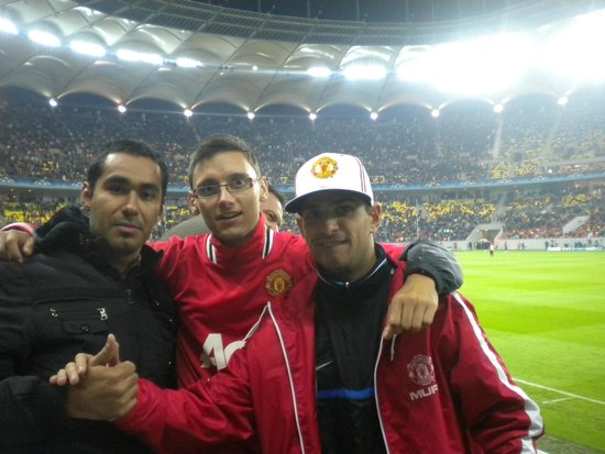 National Arena Stadium Bucharest : Amigos del Man Utd
