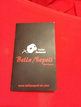 Bella Napoli (Nanhui Road): Business Card_front