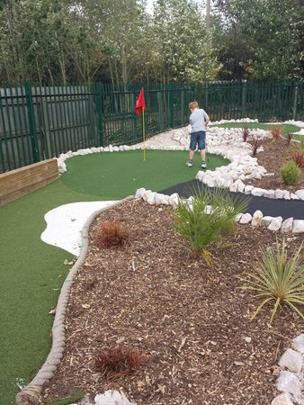 National Water Sports Centre: Our son playing mini-golf