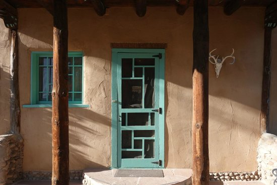 Inn of the Turquoise Bear: front door
