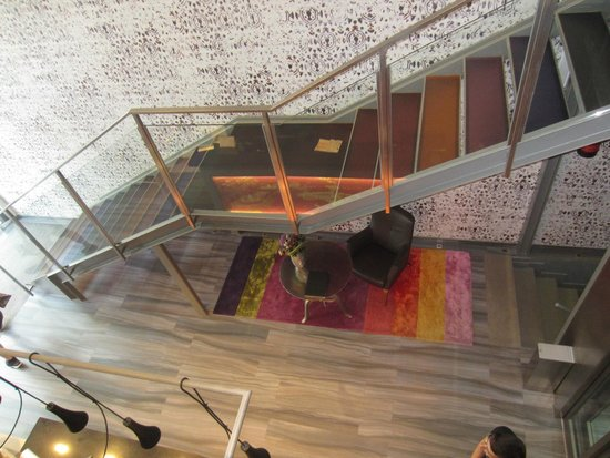 Catalonia Square : View of lobby from loft
