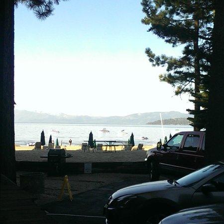 Mourelatos Lakeshore Resort: View from the door of my room #136