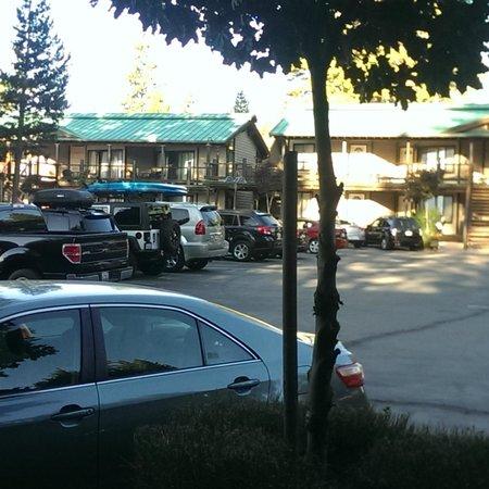 Mourelatos Lakeshore Resort: Parking lot