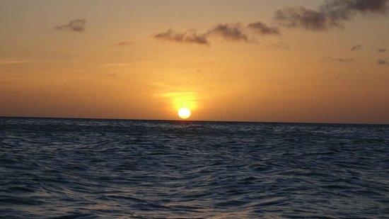 Por do sol em Manchebo Beach