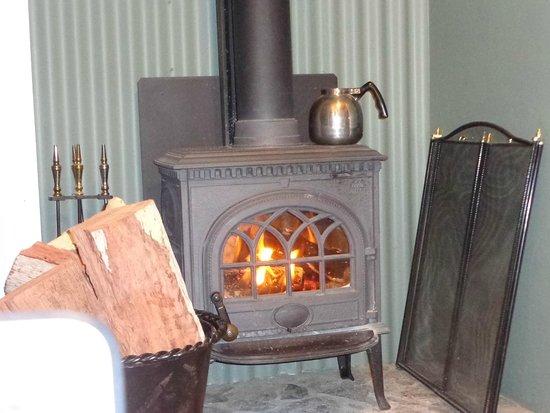 Diamondvale B&B Cottages: Cosy fire