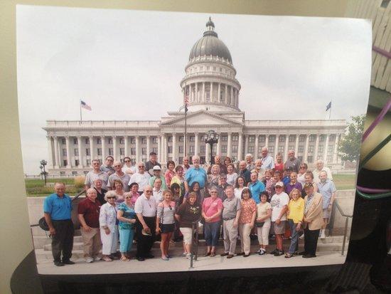 Group photo @ Utah State Capitol in Salt Lake City!