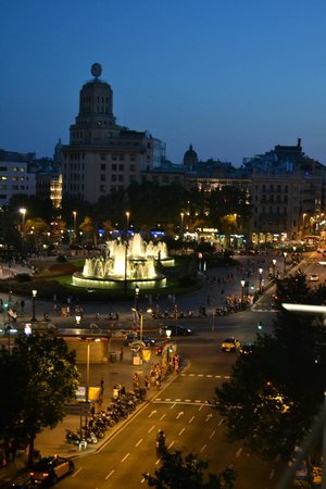 Catalonia Square: View from 5th floor balcony