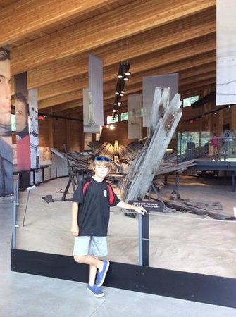 Discovery Harbour : the hull of the original Tecumseth pulled from Penetang Harbour