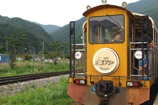 Jeongseon Rail Bike: Old shape train