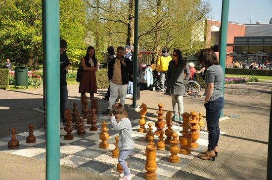 Keukenhof (Jardín de la Cocina): jogo de xadrez