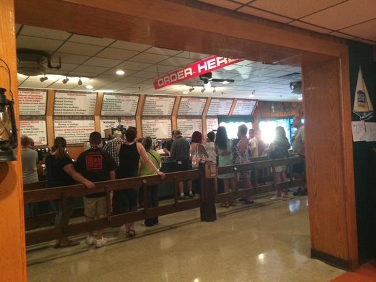 Clambake Restaurant: The walk up line where you order