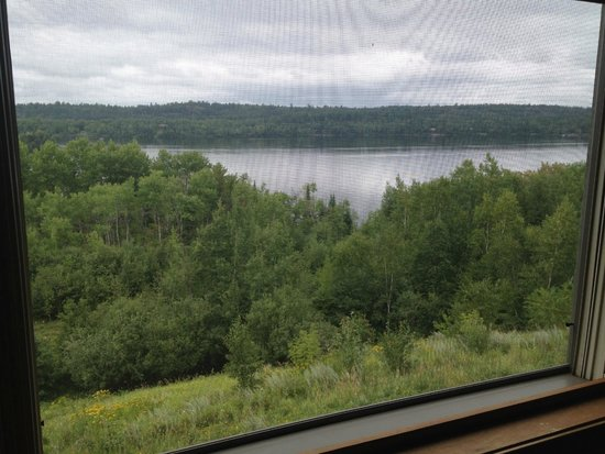 Grand Ely Lodge: My view...sorry about the screen, but you wouldn't not want screen in MN