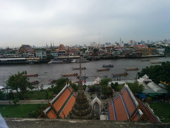 Wat Arun (Tempel der Morgenröte): view from the second level