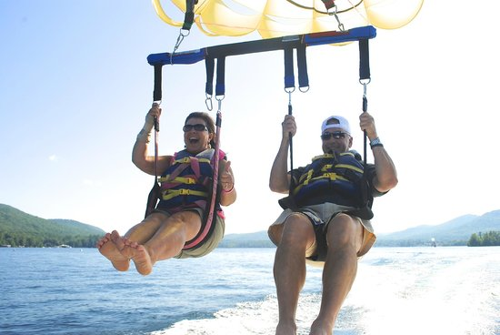 Parasailing Adventures: Adventure Parasailing on Lake George.