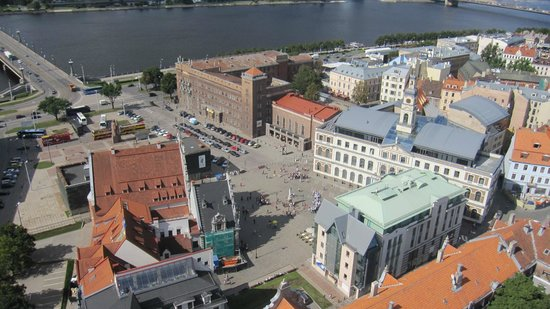 View of Riga from St Peter's Church Tower: Vistas de Riga desde la torre de la Iglesia de San Pedro