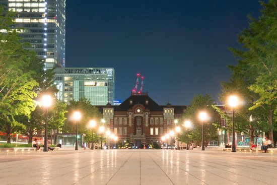 Tokyo Central Railway Station: 夜の東京駅も綺麗です。