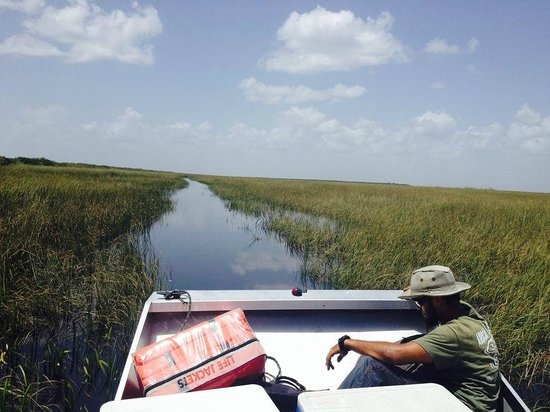 Airboat In Everglades : A breath taking view of the Everglades