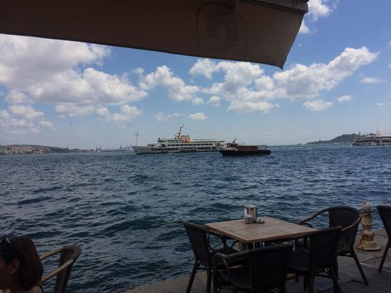 Dolmabahce Palace: At lunch right outside palace