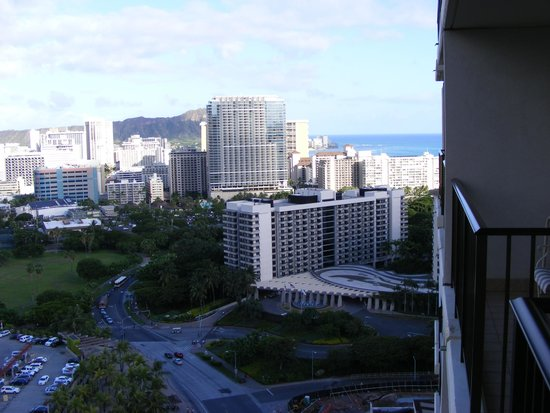 """Hilton Hawaiian Village Waikiki Beach Resort: Our """"ocean"""" view...we were in a """"resort view"""" room but still could see the ocean"""