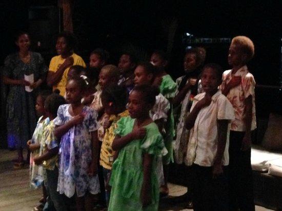 Warwick Le Lagon - Vanuatu: Pikinini Choir singing at our welcome party