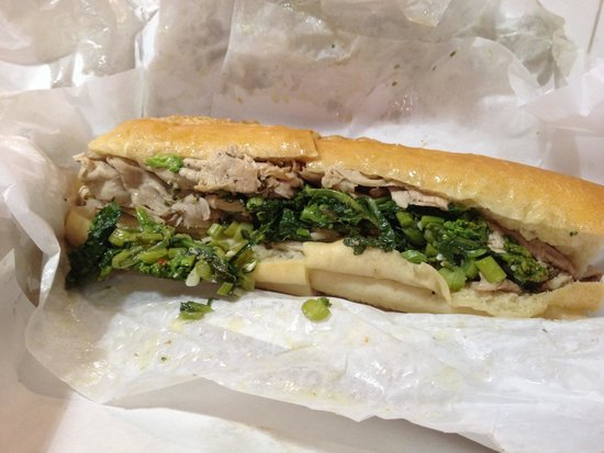 Di Nic's Roast Pork & Beef: Roast Pork w/ brocoli rabe and provolone