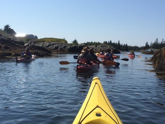 Pleasant Paddling: This is me following