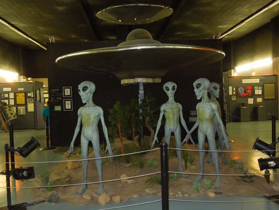 International UFO Museum and Research Center: Silly space display