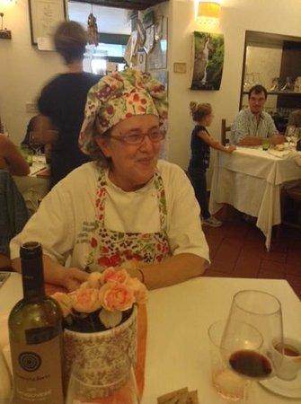 Al Gambero Rosso: Giuliana s'intrattiene con gli ospiti