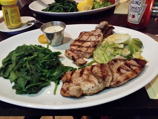 Covent Garden Grill: CIDER & MAPLE SYRUP PORK LOIN STEAKS