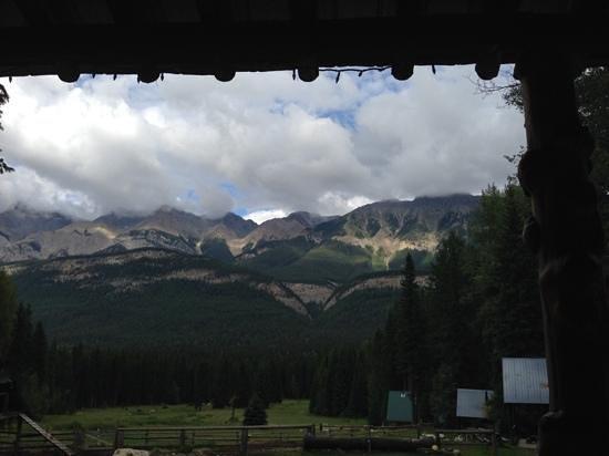 Beaverfoot Lodge: view from the lodge veranda