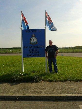 RAF Waddington Airshow: Viewing enclosure raf Waddington