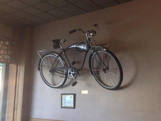 The Wooden Chair: Bicycle on the wall