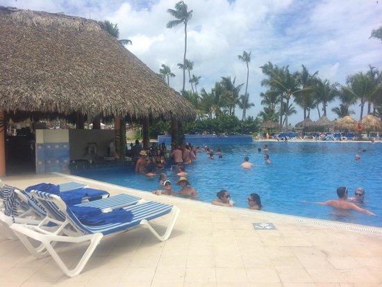 Grand Bahia Principe Punta Cana: Pool by beach with pool bar.