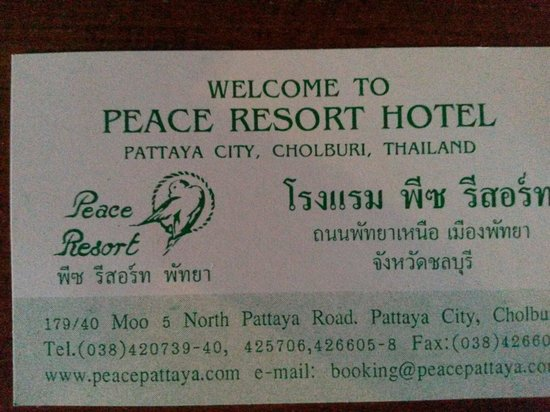Peace Resort Hotel : Ок!!!