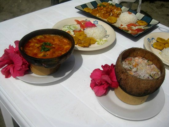 Las Tunas, Ecuador: Varias especialidades gastronómicas de Wipeout  Cabaña