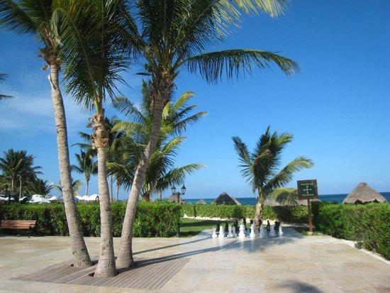 Ocean Coral & Turquesa: Lifesize chess game