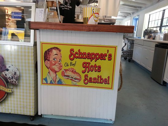 Schnapper's Hots: decor has a nostalgic feel to it with vintage pics & signs