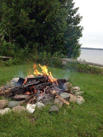 De Tour Village, MI: Campfire