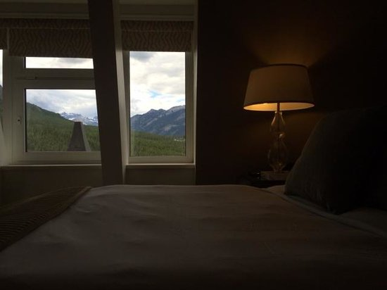 The Fairmont Banff Springs: View from the bed