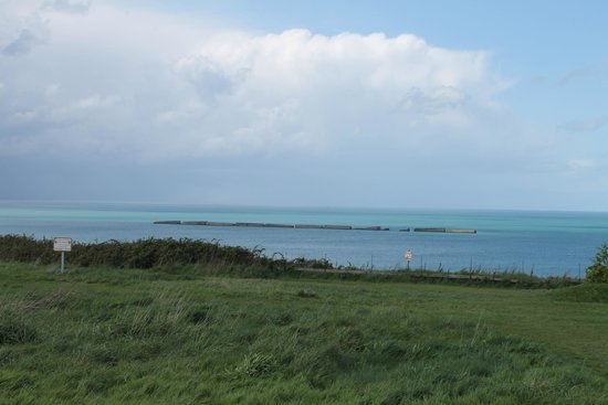 Remains Mulberry Harbour : view from the hill
