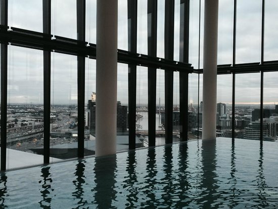 Crown Metropol Melbourne: view from the pool