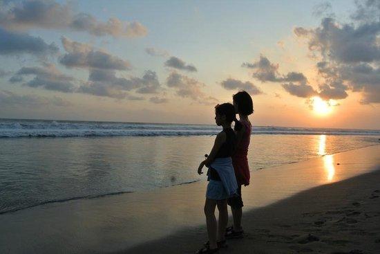 Batu Belig Beach Sunset