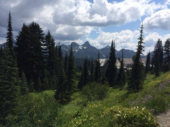 Paradise Inn at Mount Rainier: The lodge in its beautiful setting