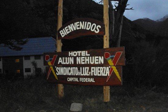 Hotel Alun Nehuen : Cartel de Ingreso